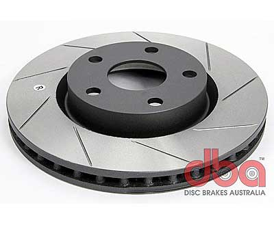DBA T2 Slotted Front Rotors for Skoda Laura 1.8 TSI